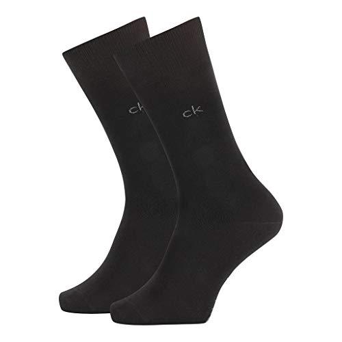 Calvin Klein Socks mens Herren Sneakersocken ECP275, 2er Pack, Schwarz, 43/46 Socks, black