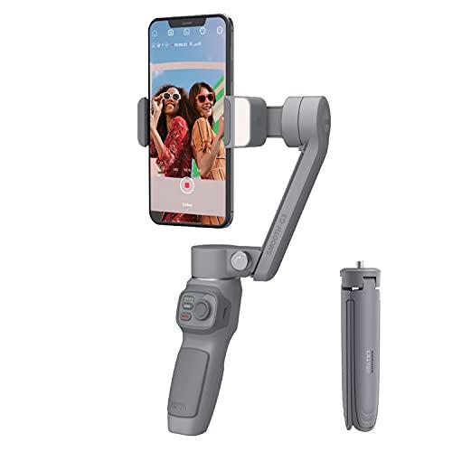 ZHIYUN Smooth-Q3 3-Achsen Handheld Stabilisator Gimbal für Smartphone mit Stativ, Phone Gimbal mit Fülllicht vom Touch-Button-Typ