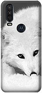R2569 White Arctic Fox Case Cover for Motorola One Action (Moto P40 Power)