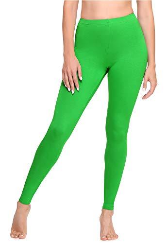 Ladeheid Leggins Largos Mallas Deportivas Mujer LA40-133 (Verde, L)