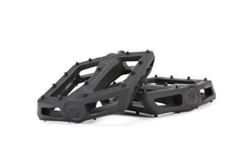 Cult Plastic Dak - Pedali BMX da 9/16', colore: Nero