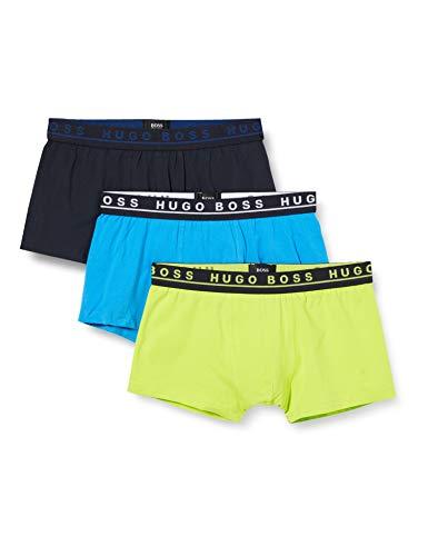BOSS Herren Trunk 3p Co/EL Boxershorts, Open Miscellaneous981, XL (3er Pack)