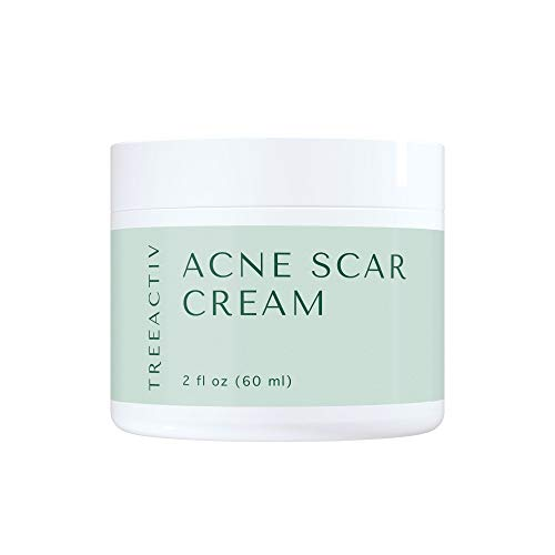 TreeActiv Acne Scar Cream 2 fl oz (60 ml), Advanced Anti Blemish Treatment for Face and Body, Topical Facial Corrector for Post Acne Marks and Dark Spots, Banish Old and New Scars