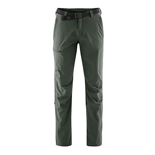 Maier Sports Nil Pantalon de randonnée Roll up 90% PA 10% EL avec Ceinture, bi-élastique, séchage Rapide et imperméable M Kaki