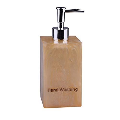 Dispensador de jabón Hotel Clubhouse Gel de ducha Champú Loción en botella de agua Dispensador de jabón Resina Dispensador de jabón Dispensador de la bomba de jabón de baño ( Color : Brass )
