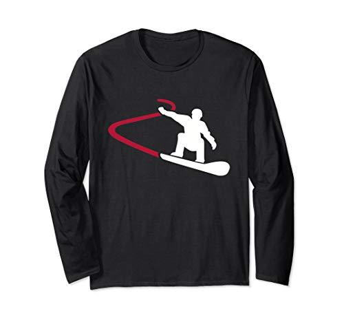 Snowboard Rennen Langarmshirt