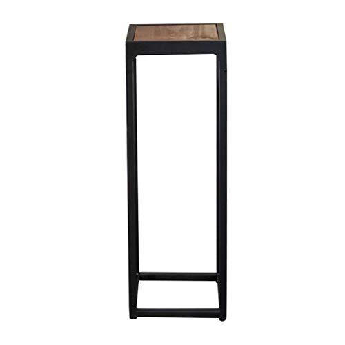 HWH Eisen Blumenständer, Regal Black Pine Indoor Palette Wohnzimmer Schlafzimmer Büro Studie Blumentopf Dekoration Innen (größe : 27.5 * 27.5 * 78cm)