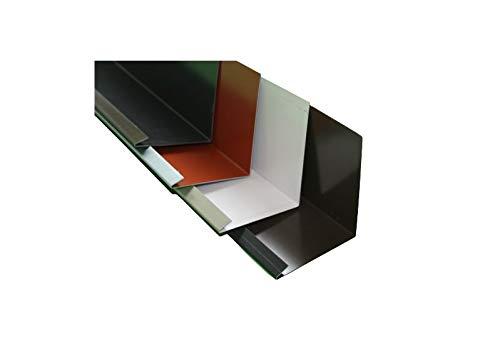 Wandanschlußblech 2 m lang Aluminium farbig 0,8 mm (klein, Anthrazit RAL 7016)