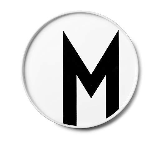 Design Letters persönlicher Porzellanteller (Weiss) - M