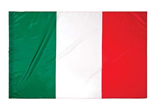 G.V. Bandiera Italia cm 90x150 Azzurri Tricolore Nazionale Italy Flag Italien Flagge Tessuto Resistente
