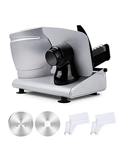 Electric Meat Slicer for Home Use, Adortec Deli Slicer Machine with...