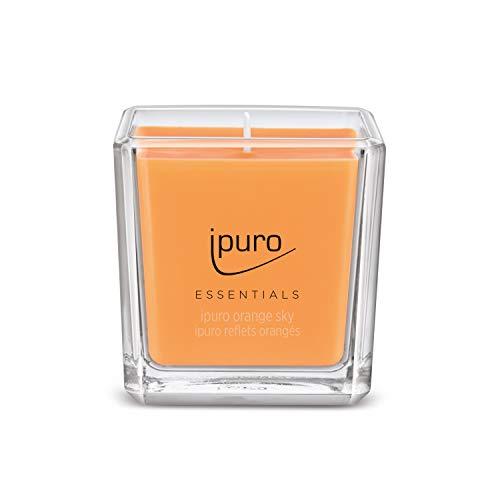 Ipuro ESSENTIALS Orange Sky Duftkerze, Transparent, 125 ml