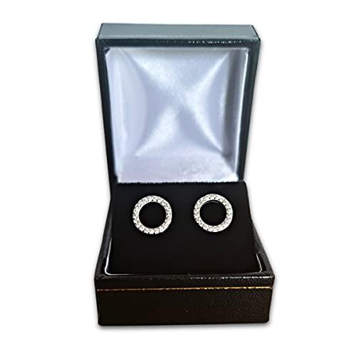 Caja de regalo de lujo para pendientes de piel sintética