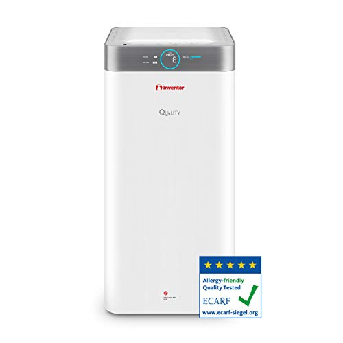 Inventor QLT-550 Quality, Purificador de Aire Silencioso para Combatir bacterias, Virus y alergias, Dos Filtros HEPA H13 y Filtros de Carbón Activado, CADR de 550 m³/h para áreas de hasta 85m² 🔥