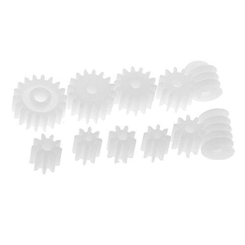 Hellery 11 Piezas Surtidas De Engranajes De Plástico Piñones Piñones para RC Modelo De Juguete DIY Accesorios