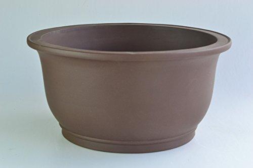 Unglazed Bell Shaped 17' Yixing Purple Clay Bonsai Pot(PC14-17)