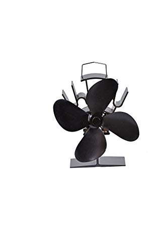FIREFIX 2100 Kaminofen-Ventilator (stromlos), Schwarz