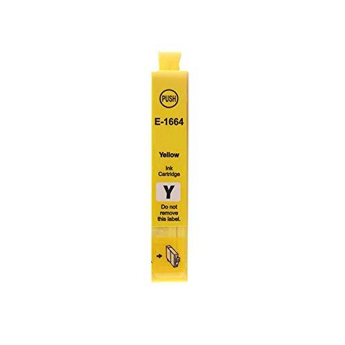 Adecuado para Epson Me101 Cartucho de tinta Epson Me-10 Color Impresora todo en uno 166xl negro T1661 Cartucho de tinta 1662 1663 1664 Relleno de suministro continuo yellow