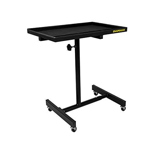 Tavolino Portatile in Acciaio con Ruote e Altezza Regolabile da Officina e Garage FT01