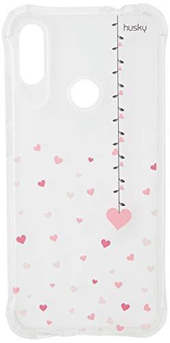 Capa Anti-Impacto Personalizada para Redmi Note 7 Pro - Coração Mobile - Husky, Colorido