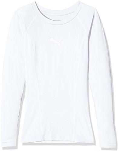 PUMA Kinder Liga Baselayer Tee LS Jr Shirt, weiß (Puma White), 140