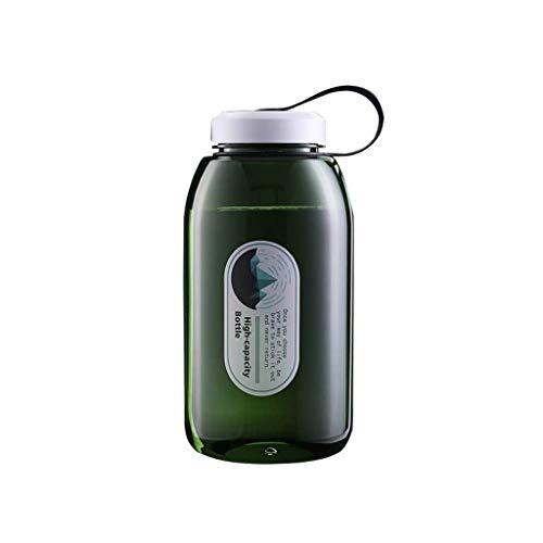 QUD Grande Bouteille d'eau Hydratation, Thermos Coupe en Plastique Haute capacité extérieure Pêche Voiture Voyage Motion Fitness Noir Vert 2000ml 20/3/28 (Color : Green)