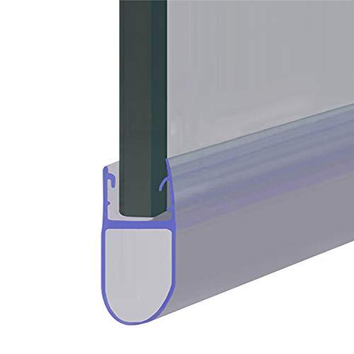 SEAL003 - Joint d'étanchéité pour porte de douche ou de baignoire - Compatible avec du verre de 4, 5 ou 6 mm - en forme de joints à bulle espacés jusqu'à 12 mm - 80 cm, 90 cm, 140 cm ou 2 m de long