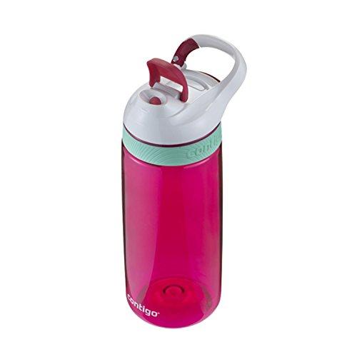 Botella para agua de color rosa pico bebedor, botón antigoteo, alta calidad mejor precio