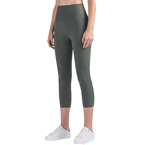 CMZ Skinny Nude Yoga Pants Leggings de Cintura Alta de una Pieza para Mujer en Primavera y Verano, glúteos Fitness Pants Women (Verde)