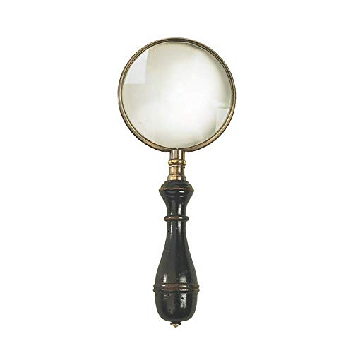 Authentic Models, Oxford Magnifier, Glass Magnifying Instruments - Brass & Black/Distressed Black