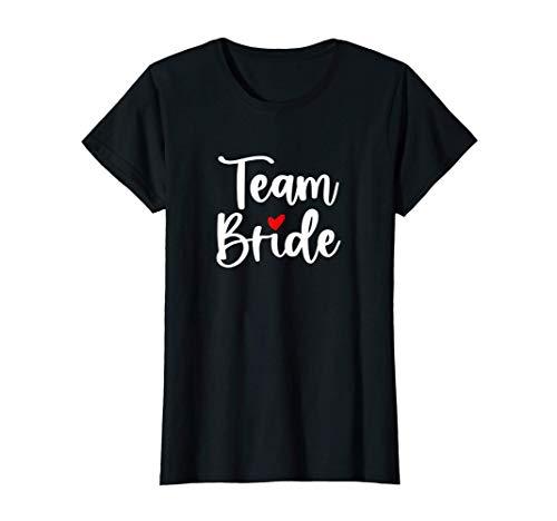 Damen Team Bride mit Herz I Junggesellinnen JGA T-Shirt