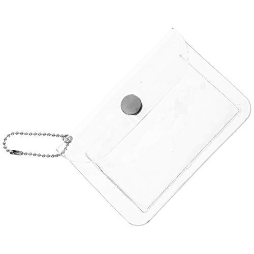 ifundom 3Pcs Plástico Transparente Monedero Carteras Mini Monedero Portátil Maquillaje Lápiz Labial Bolsas de Almacenamiento Cierre de Botón Transparente Billetera Organizador Paquete