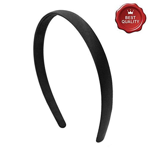 301-409 - Cheveux pour cheveux cm 1,5 bombé Satin Noir - Bulles pour cheveux
