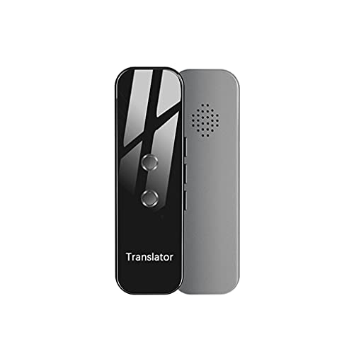 UOEIDOSB Smart Voice Translator Smart Instant Time Voice 70 Languages Travel Business Traductor (Color : Gray)