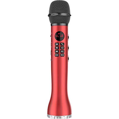 Dynamische Microfoon Draadloze Bluetooth Karaoke Microfoon Volwassen Kinderen Zingen Spreker Familie Feest Vakantie Outdoor Cadeau,Red