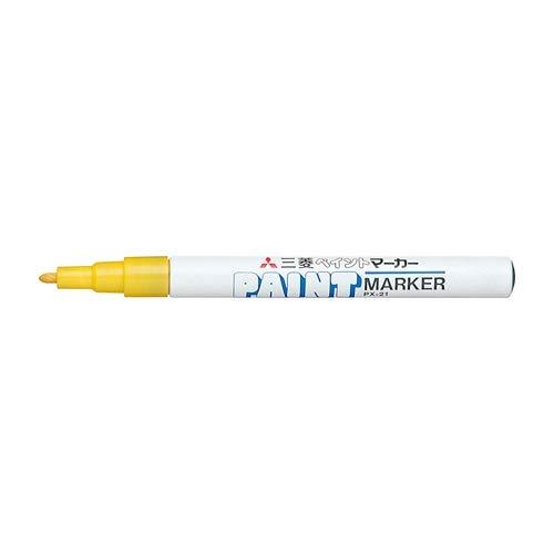 三菱鉛筆 ペイントマーカー 細字【黄】PX-21.2 2個セット