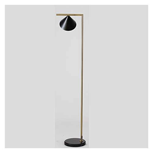 LDH E27 Lámpara de Pie Moderna Minimalista de Hierro Forjado Creativa Lámpara de Pie Lámparas Dormitorio del Piso de La Sala de Estar Base de Mármol 155cm Interruptor Remoto