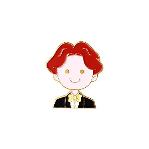 MISS KANG Broches de Mujer Pines Pareja Brooch Groom Novio Camisa Pin Button Colllar Tarjeta Ropa Accesorios Boda Día de San Valentín Regalo Qingchunw (Color : Xz4976)