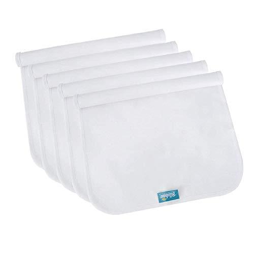 Cambiador de forro impermeable lavable (5 puntos), funda para cambiador de franela, portátil y duradero, extra grande, 71 x 38 cm, funda de cojín impermeable para moisés de viaje, color blanco
