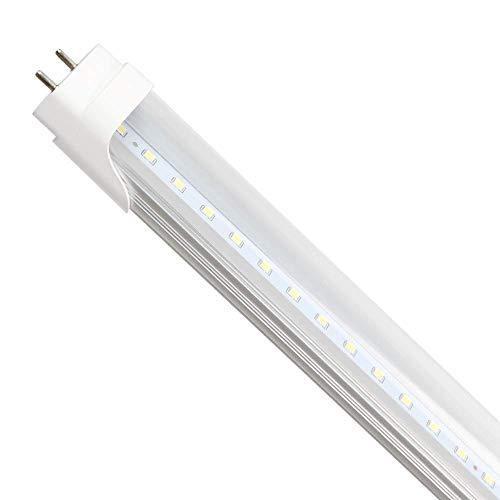 Tube LED T8 de 1,2 m, 18 W, blanc froid, 6500 K, 1890 lm, couverture transparente, [Classe énergétique A+] Ever New Lighting, pas besoin de starter avec ces tubes lumineux.