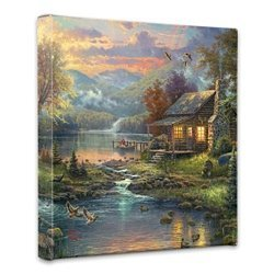 Thomas Kinkade Nature's Paradise 14 x 14 Gallery Wrapped Canvas