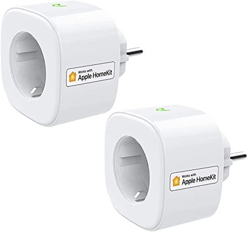 Enchufe Inteligente Wi-Fi 16A 3680W, con Control Remoto Meross app, Compatible con HomeKit Siri, Alexa, Google Assistant y SmartThings, Wi-Fi Smart Plug, Modelo MSS210HK.Paquete de 1.