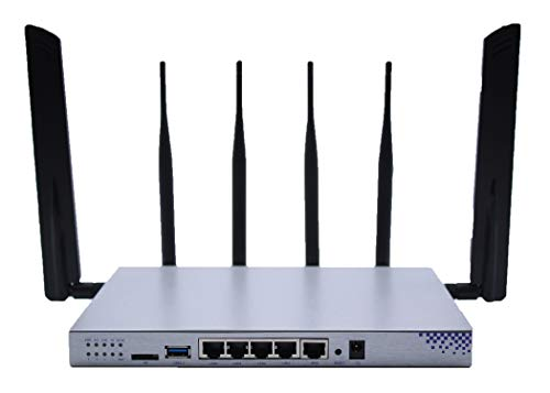 4G LTE CAT6 OpenWRT Dual Band 5Ghz & 2.4Ghz Wireless MIMO Gigabit Port Router with Quad WiFi Antennas, Preconfigured for TMobile and Compatible with AT&T
