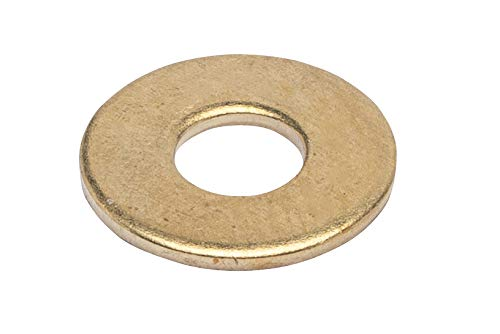 5/16' x 7/8' OD Brass Flat Washer, (25 Pack) - Choose Size, by Bolt Dropper