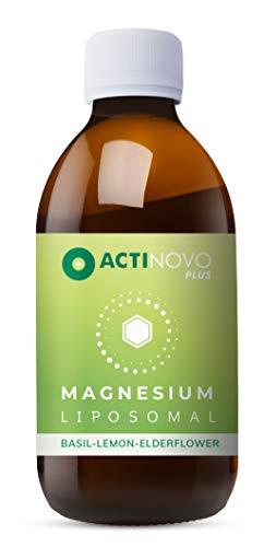 Liposomales Magnesium | mit Basilikum, Zitrone & Holunder | hochdosiert | Muskeln & Psyche | Tagesdosis 200 mg Magnesium | hohe Bioverfügbarkeit | flüssig | ohne Zusätze | vegan
