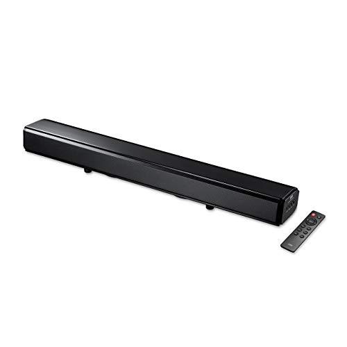 サンワダイレクトサウンドバー2.1ch60WBluetooth/光デジタル/3.5mm/RCAリモコン付サブウーファー×2テレビスピーカー400-SP081