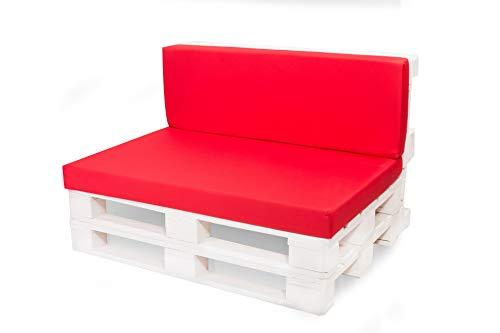 Générique Coussins de siège pour palettes, Jardin, Yacht, pub, Coussin de siège, rotin, Caravane. Red