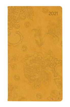 Ladytimer Slim Deluxe Honey - Taschenkalender A6 - Kalender 2021 - Alpha Edition-Verlag - Eine Woche auf 2 Seiten - Mit Soft-Touch-Cover, Lesebändchen und Platz für Notizen - Format 9 cm x 15,6 cm