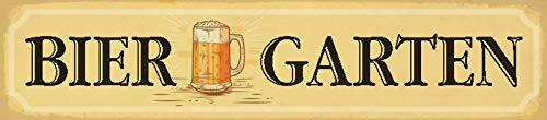 FS straatbord bier tuin bierglas Oktoberfest metalen bord bord gebogen metaal sign 10 x 46 cm