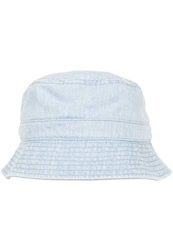 Flexfit Denim Bucket Hat Sombrero de Pesca, Azul Claro, Talla única Unisex Adulto